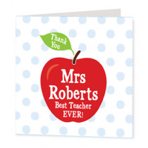 Teacher Apple - Luxury Greeting Card
