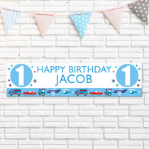 Personalised Boys Birthday Banner