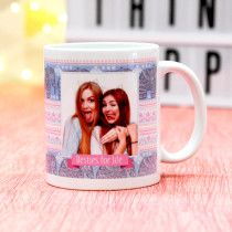 Personalised Tribal Elephant Pattern Photo Mug