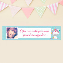 Personalised Unicorn Banner With Photo Upload