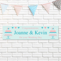 Personalised Wedding Cake Banner