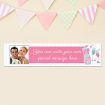 Wedding Fizz With Photo Upload - Personalised Banner