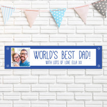 Personalised Blue World's Best Photo Banner