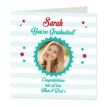 You've Graduated with Photo Upload - Luxury Greeting Card