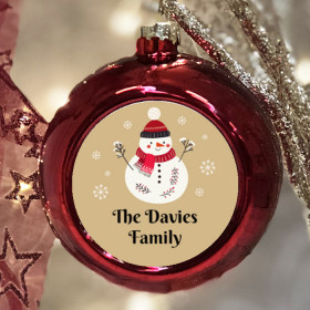 Personalised Snowman Craft - Christmas Bauble