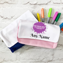 Personalised Pencil Case Text Below Image