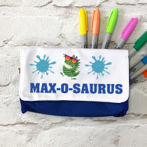 Personalised Dinosaur with Name - Pencil Case