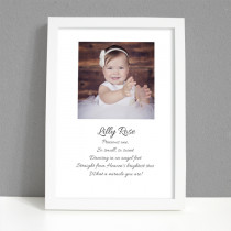 Personalised Photo Frame - Christening Photo with Verse - Large Frame