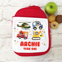 Personalised boys lunch bag/ box - red