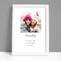 Personalised Photo Frame - Friendship Photo with Verse - Large Frame