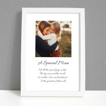 Personalised Photo Framed Art Print for Mum with Message - Large Frame