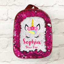 Personalised Reversible Sequin Unicorn lunch Bag