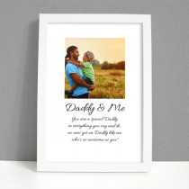 Personalised Photo Framed Art Print for Daddy and Me with Message - Large Frame