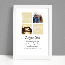 Personalised Photo Frame - I Love You Photo with Verse - Large Frame Personalised Photo Fr