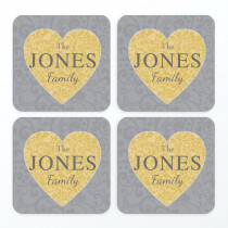 Christmas Family Heart Text Non Photo - Coasters