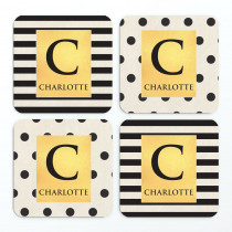 Monochrome Letter Non Photo - Coasters