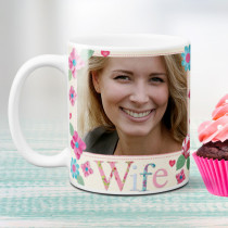 Personalised Fabrique Wife Photo Mug
