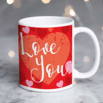 Personalised Love You Mug