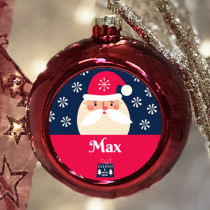 Personalised Santa - Christmas Bauble