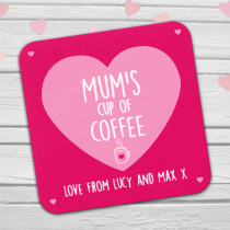 Personalised Mum's Coffee/Tea Coaster