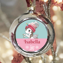 Personalised Unicorn - Christmas Bauble