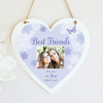 Sentiments Best Friends - Hanging Heart With Photo Upload