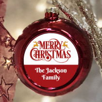 Personalised Merry Xmas - Christmas Bauble