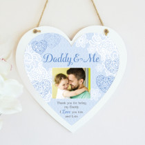 Personalised Sentimental Daddy & Me Photo Hanging Heart