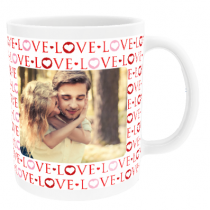 Personalised Valentine Love Text with Photo Upload - Mug