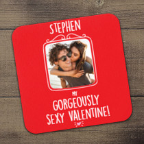 Personalised Gorgeously Sexy Valentine Photo Coaster