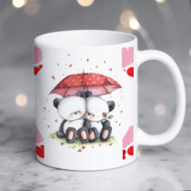 Personalised Valentine Umbrella Bears Photo Mug