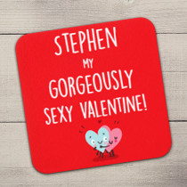 Personalised Gorgeously Sexy Valentine Coaster