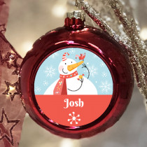 Personalised Snowman - Christmas Bauble