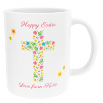 Personalised Easter Cross Design - Mug
