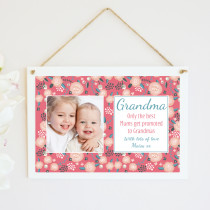 Personlised Grandma Photo Hanging Plaque