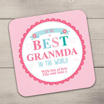 Personalised Best In The World Coaster