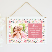 Personalised Daughter Photo Hanging Plaque