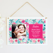 Personalised Sister Photo Hanging Plaque