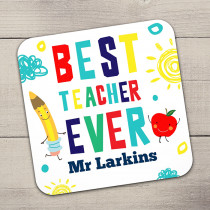 Personalised Best Teacher - Single Coaster