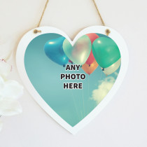 Personalised Photo Hanging Heart - One Photo Upload