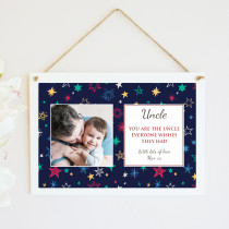Personalised Uncle Photo Hanging Plaque