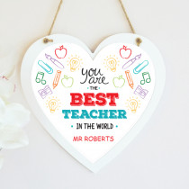 Teacher Best In The World - Hanging Heart