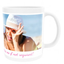 Personalised Text with One Photo Upload - Mug