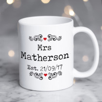 Personalised Mr And Mrs Editable Mug
