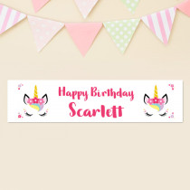 Personalised Unicorn Birthday Banner