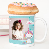 Personalised Dream Believe Unicorn Mug With Photo Upload
