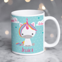Personalised Dream Believe Unicorn Mug