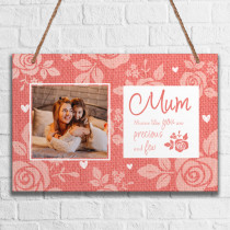 Personalised Mum Photo Hanging Plaque