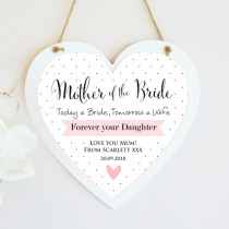 Personalised Mother Of The Bride Wedding Hanging Heart