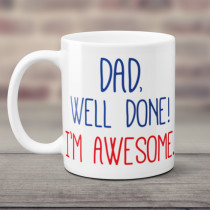 Personalised Dad Awesome Mug